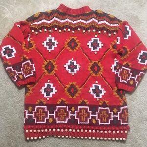 VTG Sweater Fair Isle Knit Grandpa Valentines Day